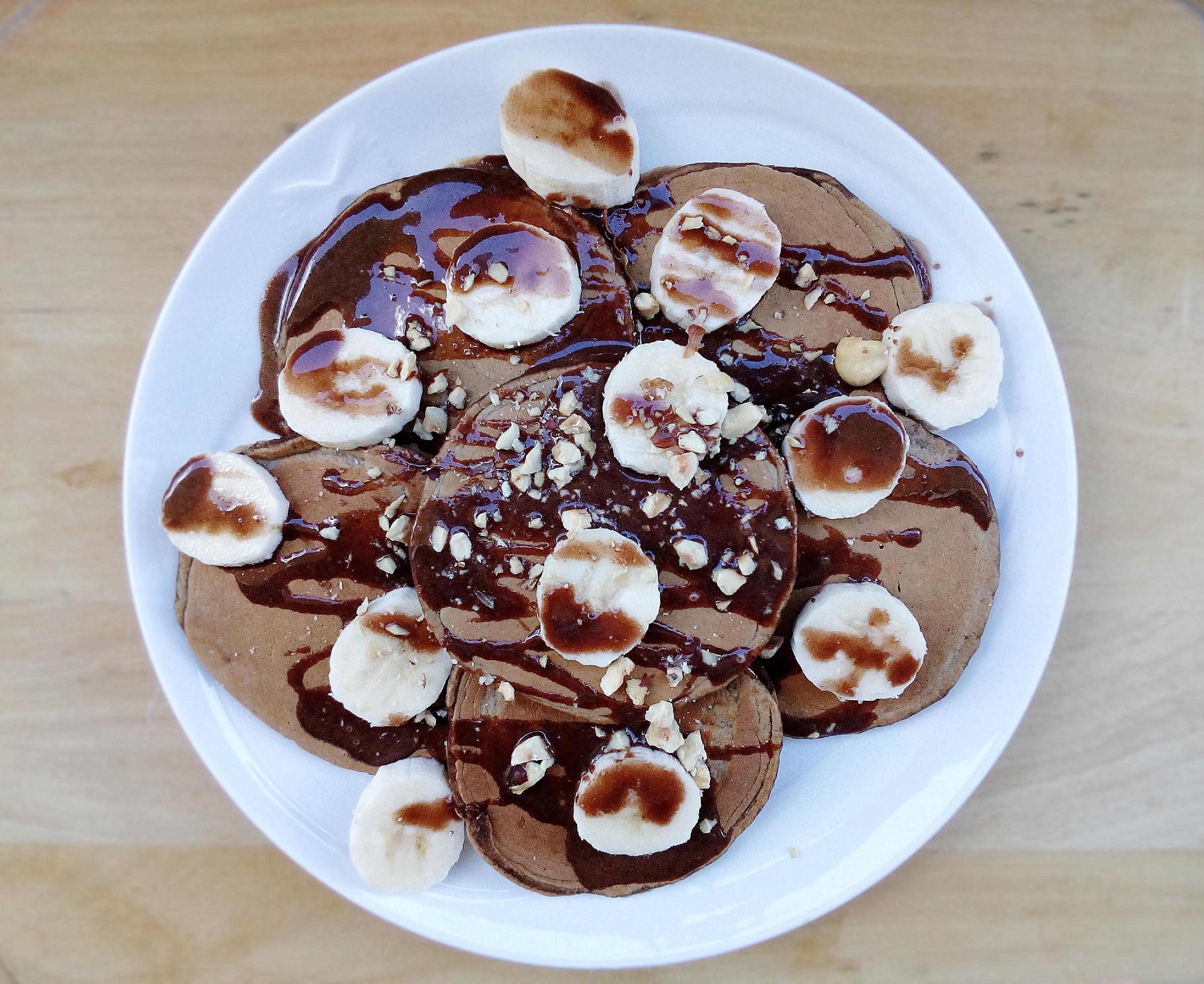 Pancake al Caffè & Burro di arachidi al cioccolato