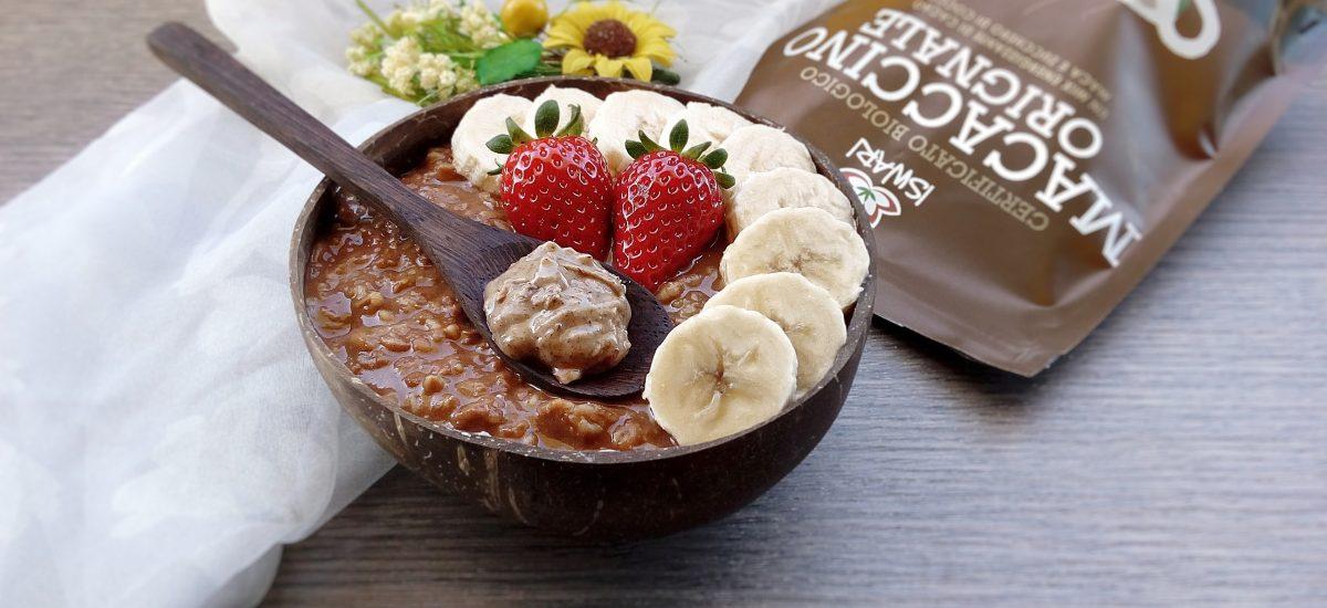 Porridge Banana, Macaccino & Mandorle