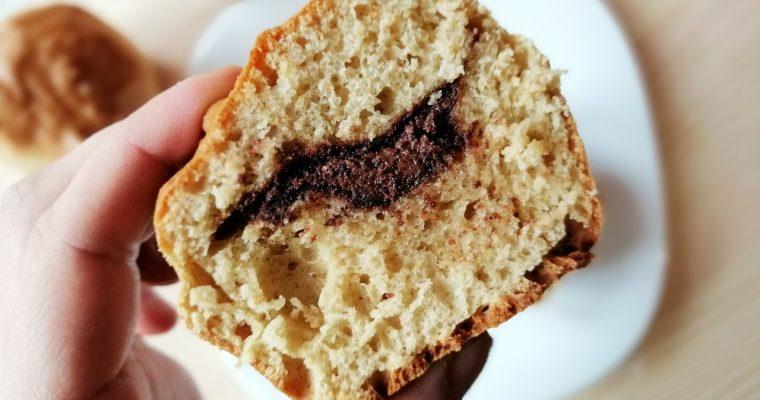 Muffin ai cereali con cuore al cioccolato