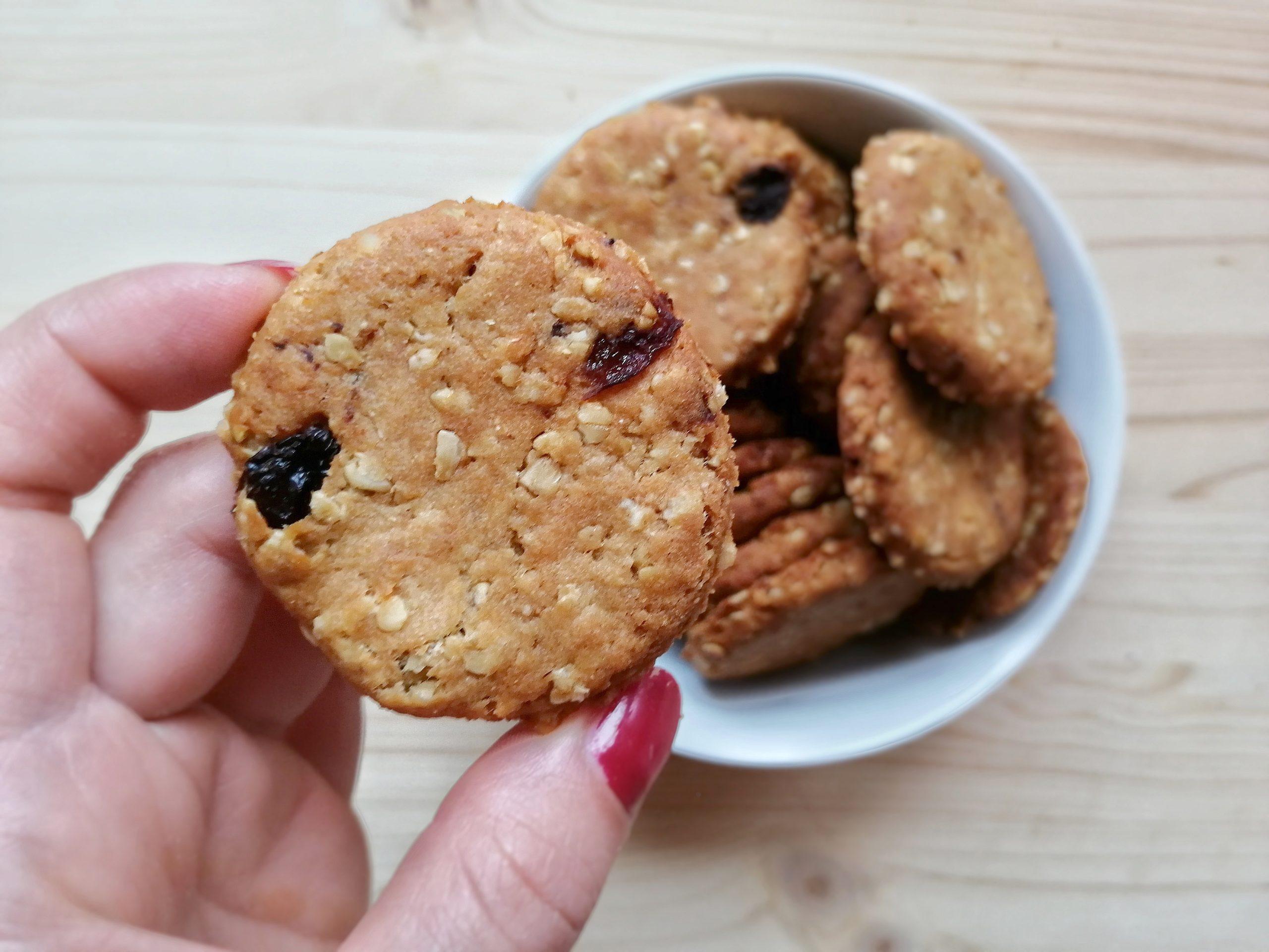 Biscottini Vegan – Cereali e Uvetta